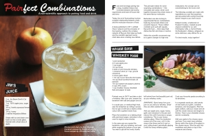 I teamed up with a local bartender and a chef to create these recipes. The idea was to pair cocktails with classic comfort food.