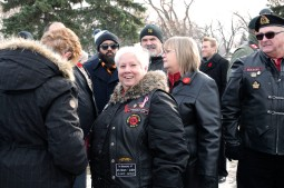 Judy Hemlow was a medic with the Canadian Women's Army Corp during Canada's peacekeeping efforts. Hemlow comes to Vimy Ridge Memorial Park with her group of vets every year.